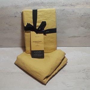 2 West Elm Belgian linen pillow shams